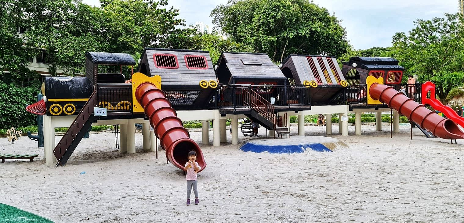 Tiong Bahru Park Playground - Have Some Fun on a Tilting Train - My Chirpy  Life
